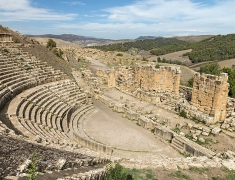 Huge and beautifully preserved amphitheater on excavations in Djémila