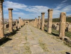 Roman main street in excavations in Djémila