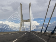 Most Vasco De Gama -the longest bridge in the Europe