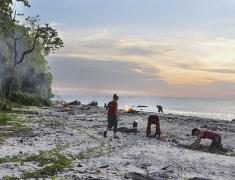 Úklid pláže od odpadků