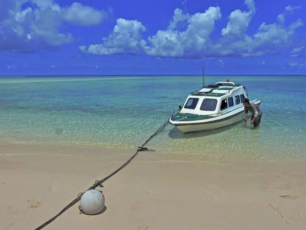 Jediný dopravní prostředek, kterým jsme se mohli s na ostrov