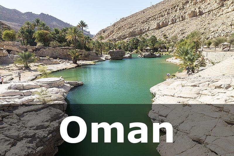 Lake in Wadi Bani Khalid, Oman