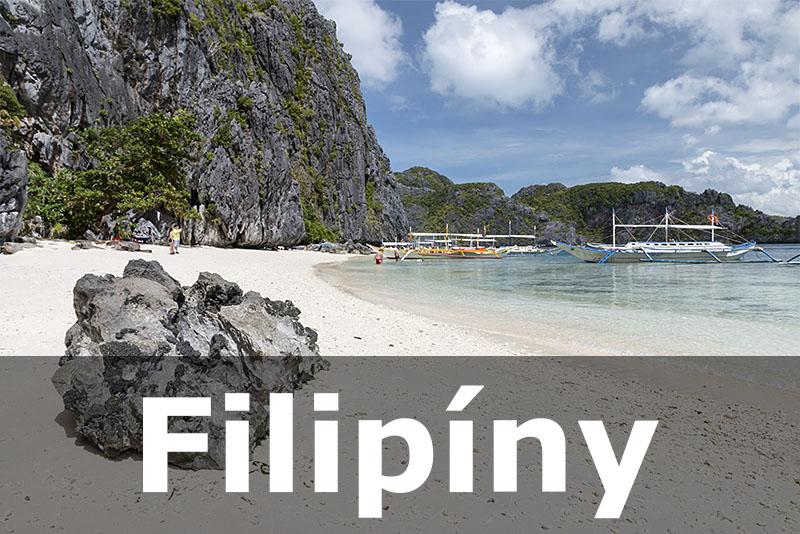 Filipiny El Nido pláž