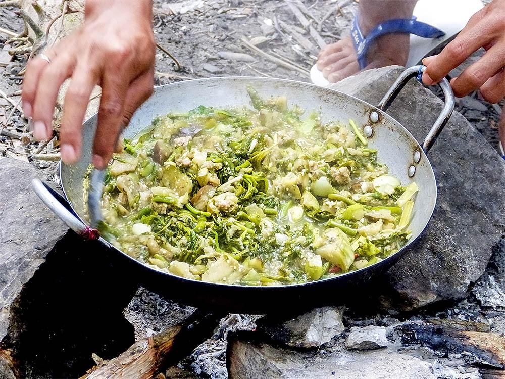 Bambusová polévka - hotovo