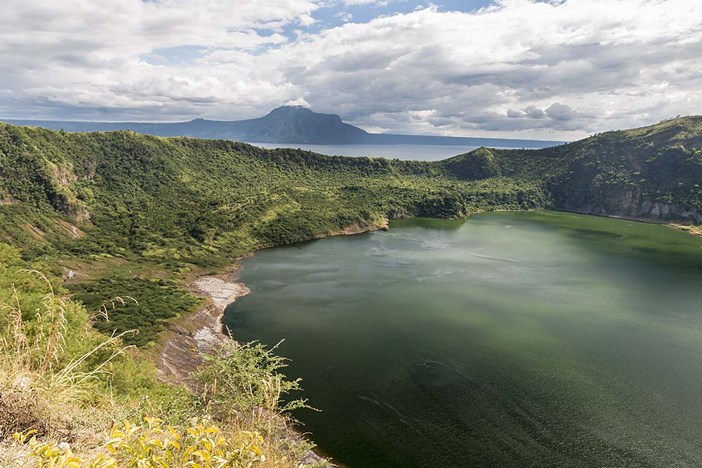 Lake in crater