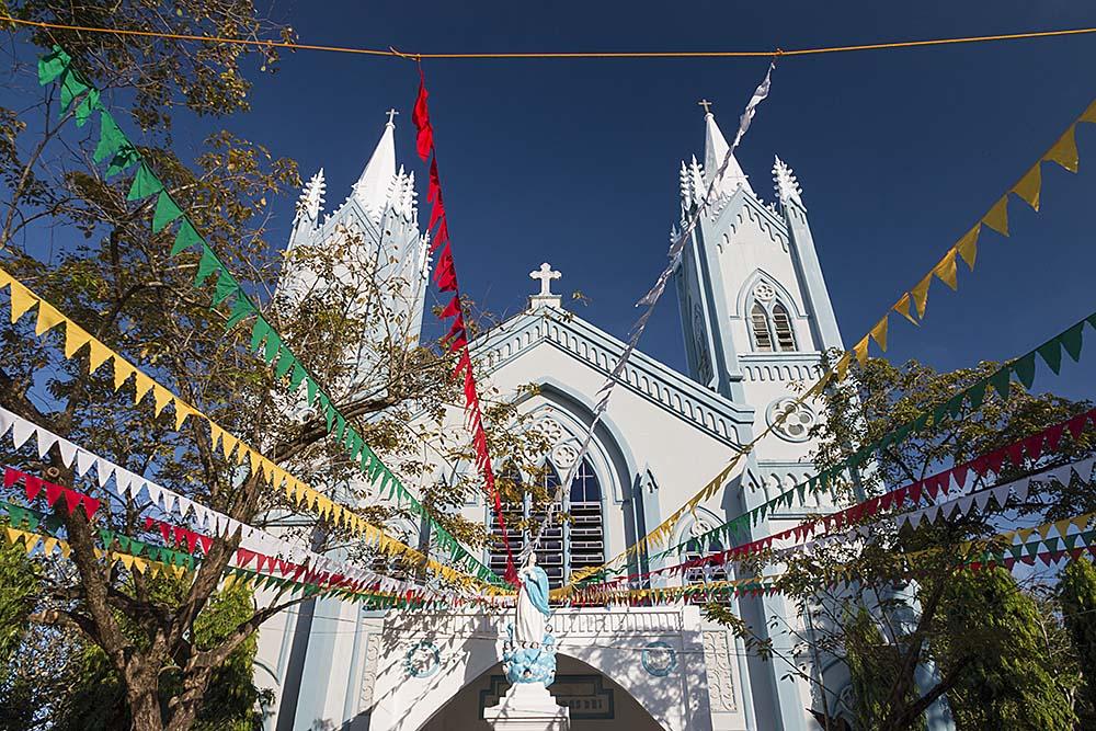 Nice white-blue church