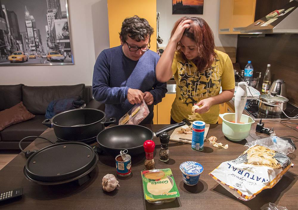 Hosti z Mexika nám vaří večeři