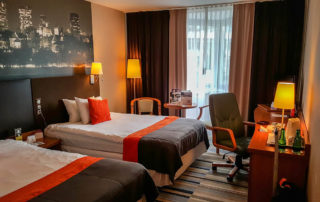 New hotel room in Warsaw