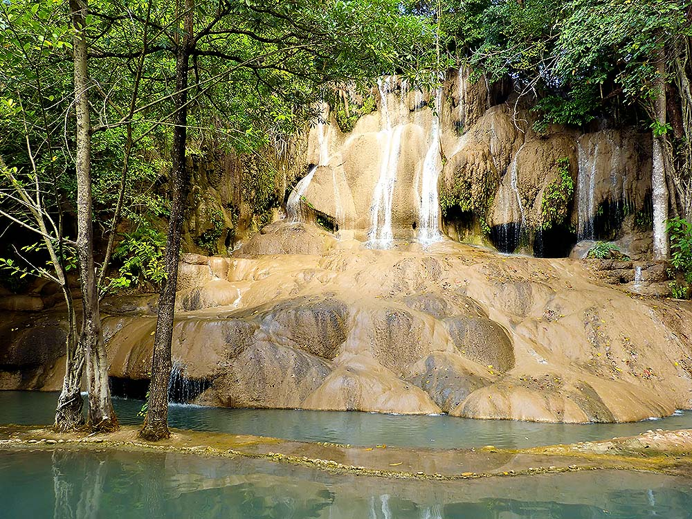 Erawan National Park - a system of river waterfalls