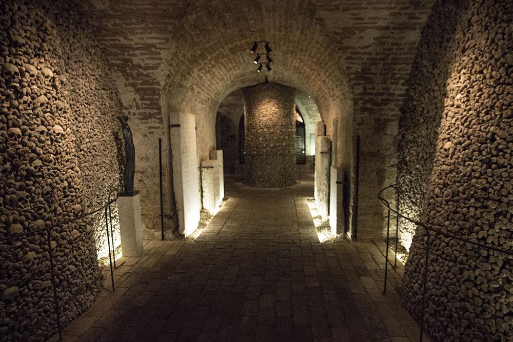 Brněnská kostnice - hlavní část podzemí
