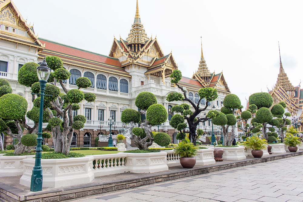 Buddhist temples are scattered throughout Thailand