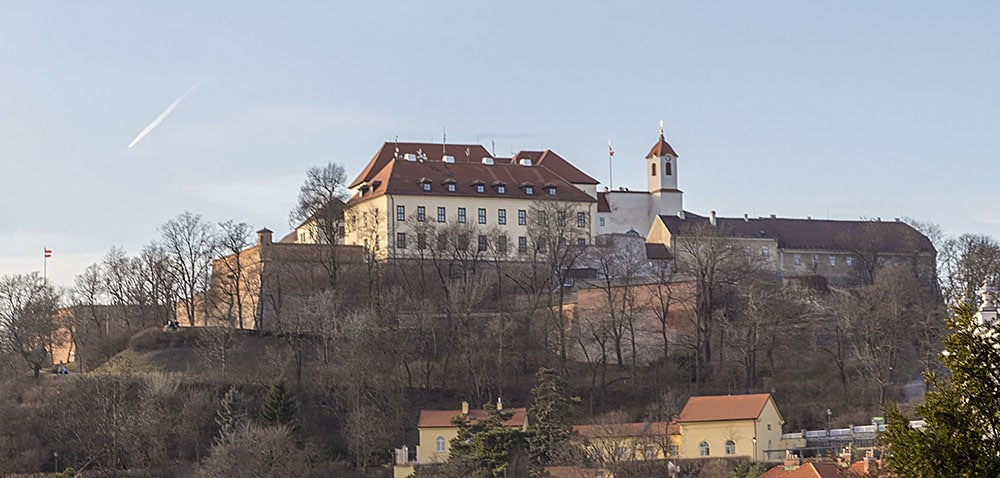 Overall view of Špilberk in the direction of Petrov