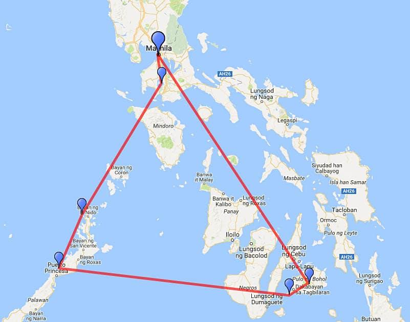 Filipíny - plán cesty