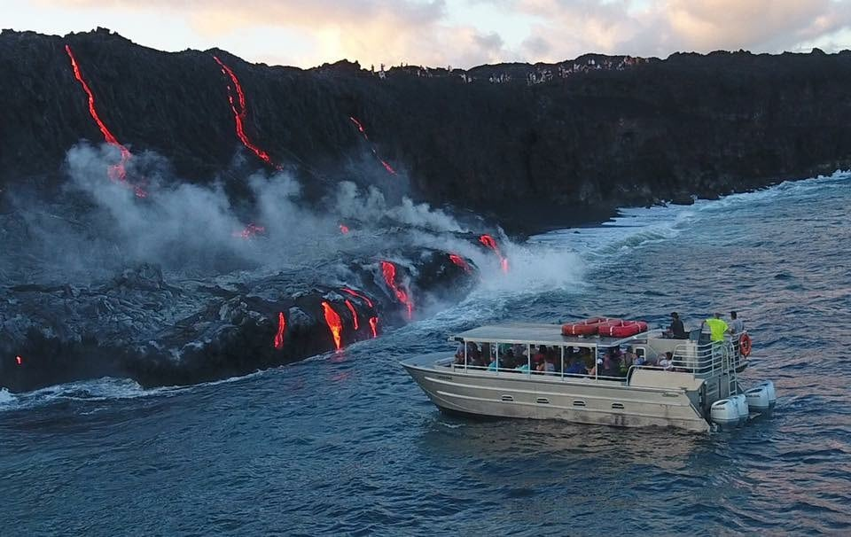Boat with lava