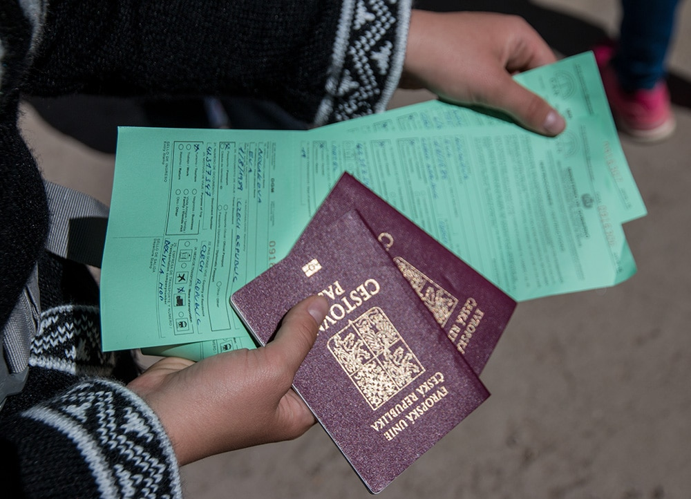 We needed passports and a completed form for the transition