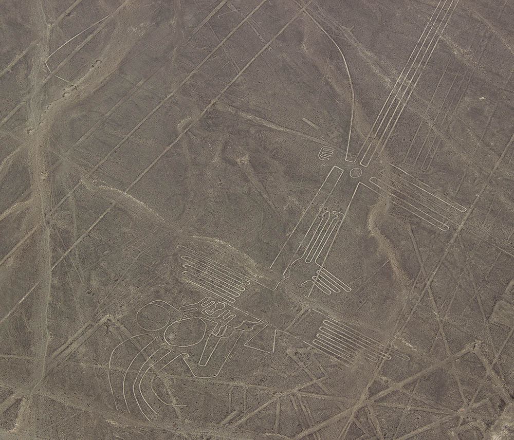 Geoglyphs and other lines on the Nazca Plateau
