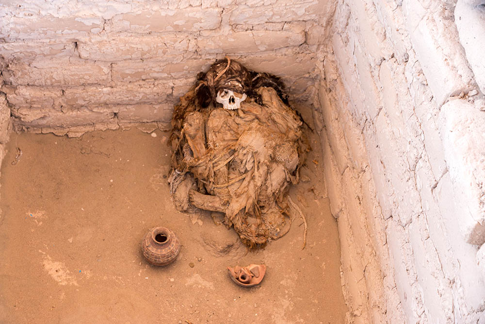 Indian mummy from the Chauchilla burial site
