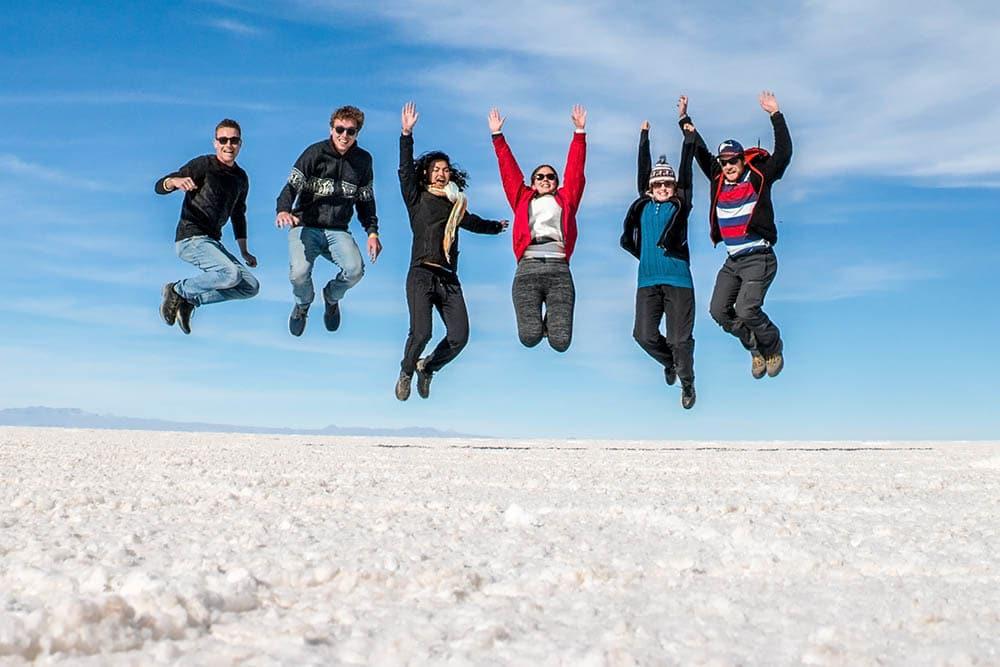Solné pláně Uyuni, Bolívie