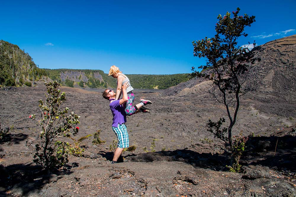 Trail in the Kilauea Iki Crater