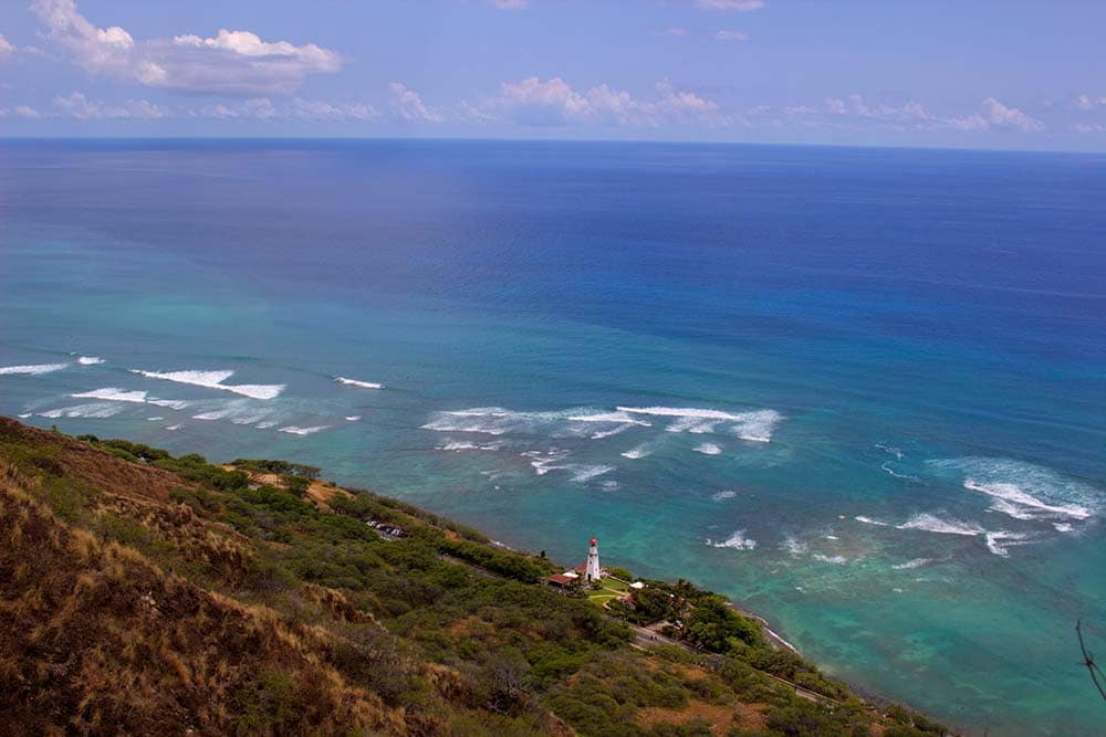 Výhled z Diamond Head, Oahu, Havaj