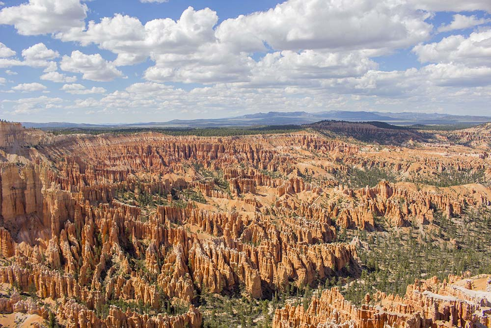 View to Limestone Formations in Bryce Canyon National Park