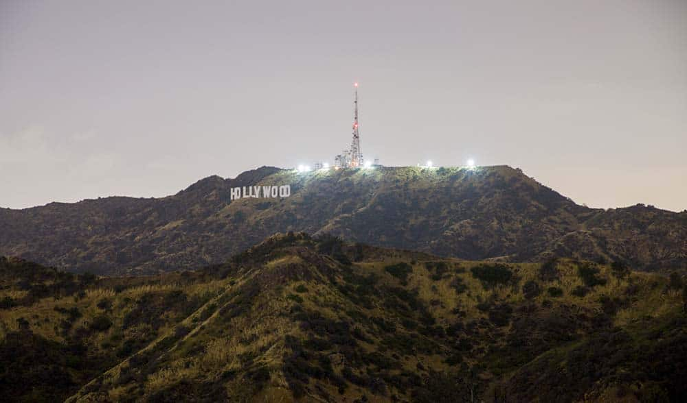 View to the Hollywood sign