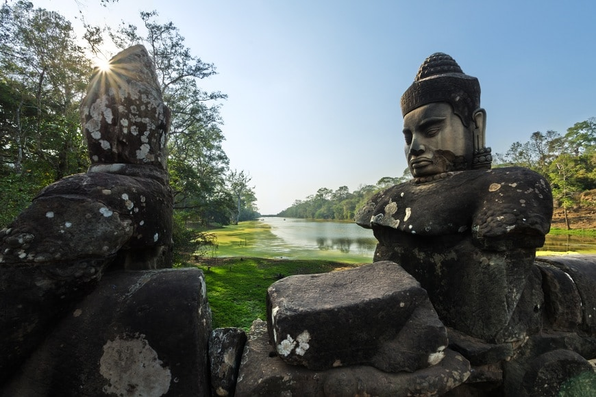 South gate to Angkor Thom, Cambodia