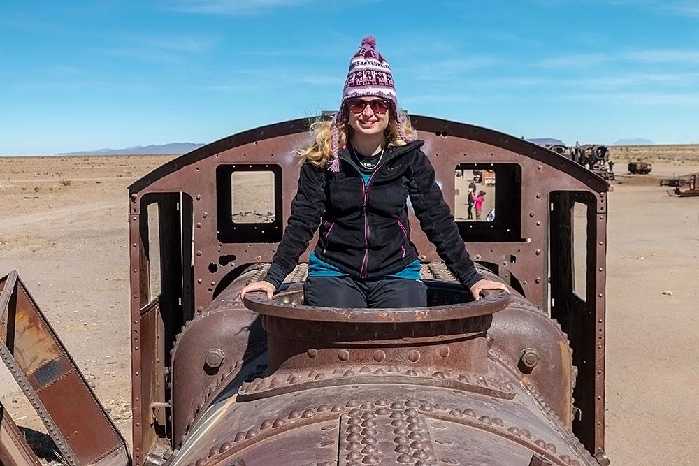 Vlakový hřbitov u Uyuni, Bolívie