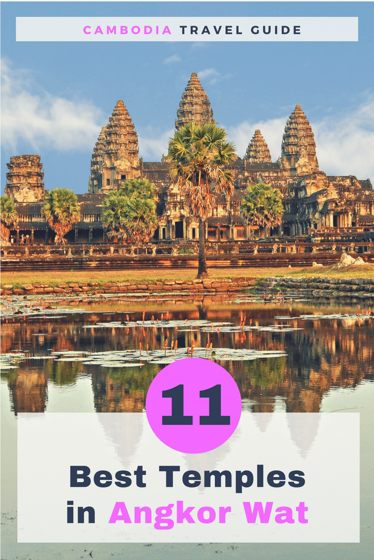 Angkor Wat temple complex consists of dozens of temples lying in the jungle. Here's the list of 11 best Angkor Wat Temples you can see in a one-day visit. Cambodia best of Angkor Wat | What to see in Angkor Wat | What to do in Angkor Wat | Angkor Wat and best temples