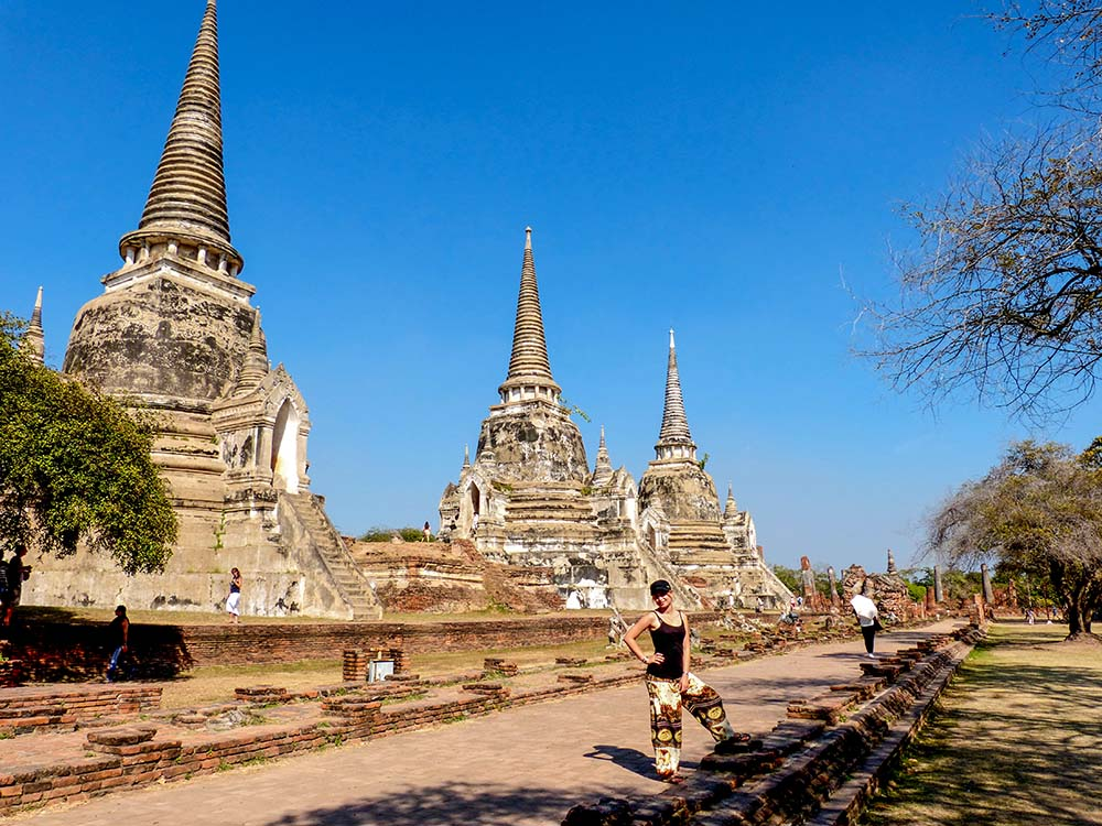 Former royal palace - the dominant feature are three stupas