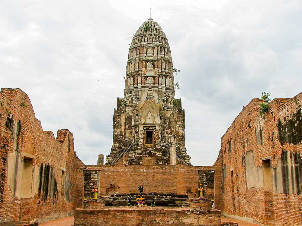 Ruins of a beautiful temple Ratchaburana