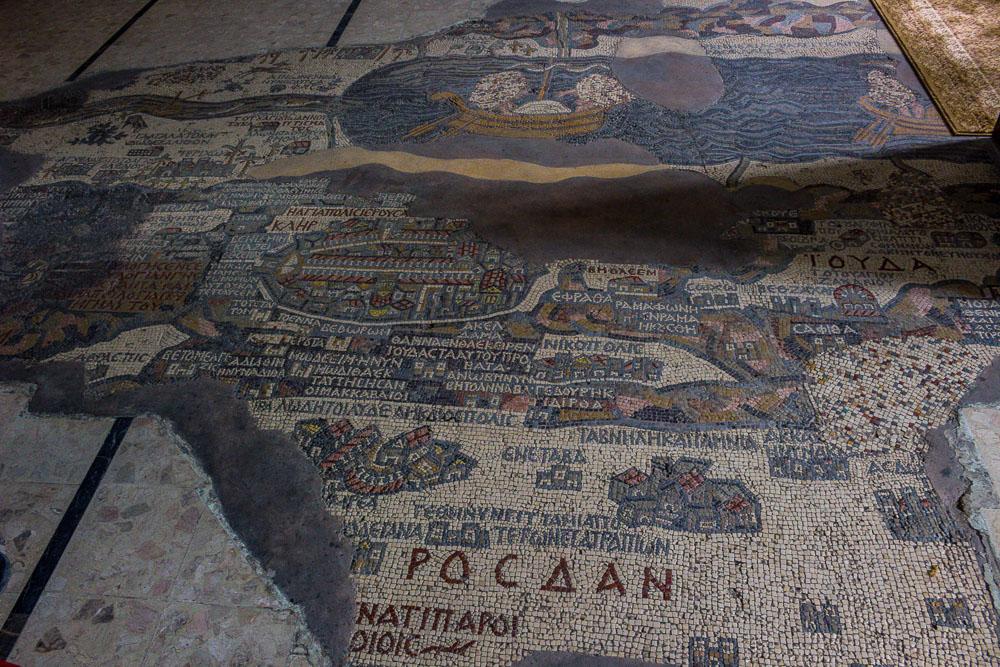 Nejstarší dochovaná mozaiková mapa se nachází v Madabě