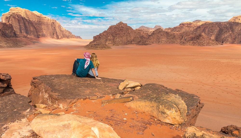 viewpoint in Wadi Rum in Jordan