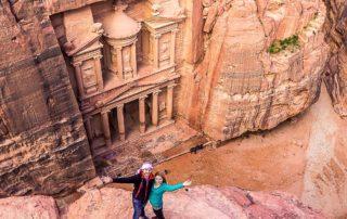 Eva and Tom - Treasury in Petra