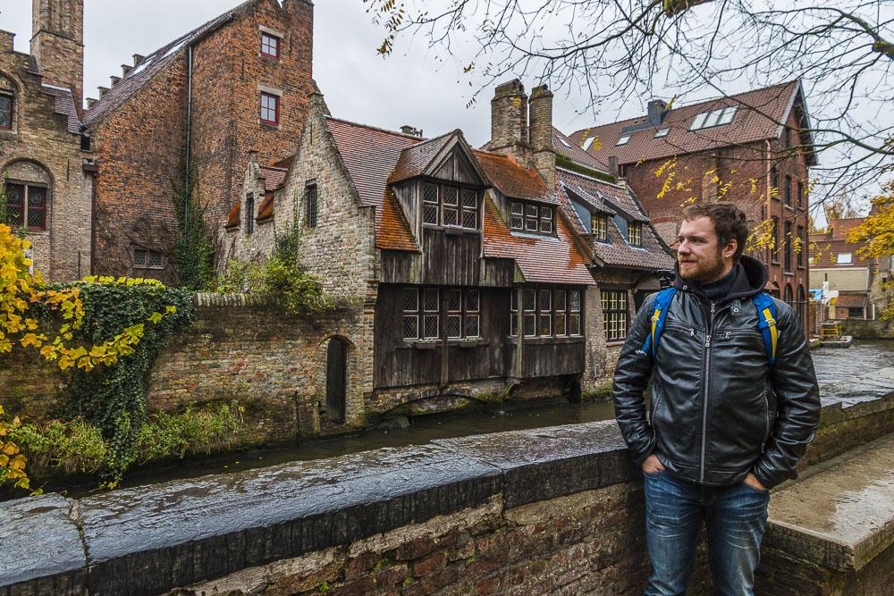 Oldtown in Bruges in Belgium