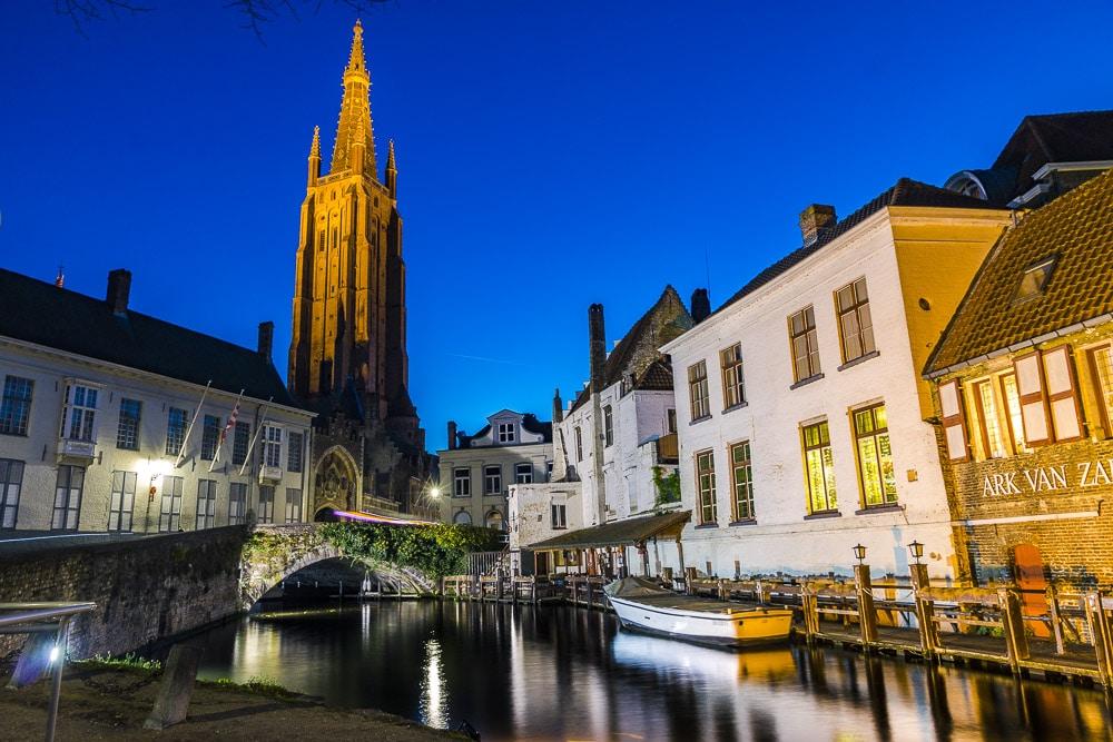 Bruges night photo