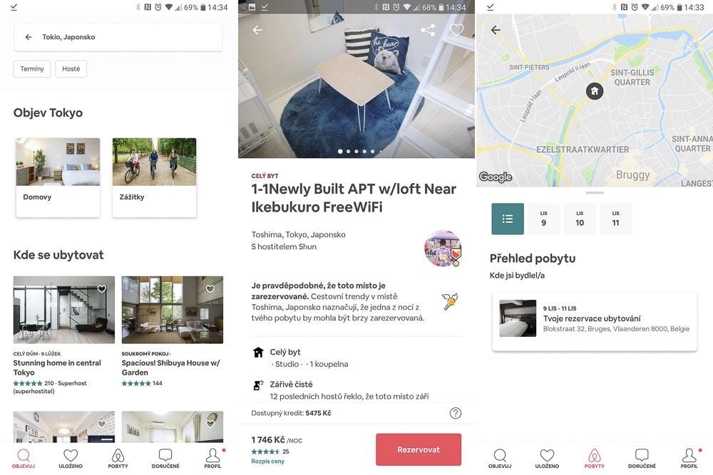 Airbnb aplikace