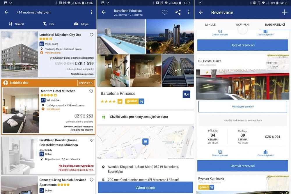 Booking aplikace