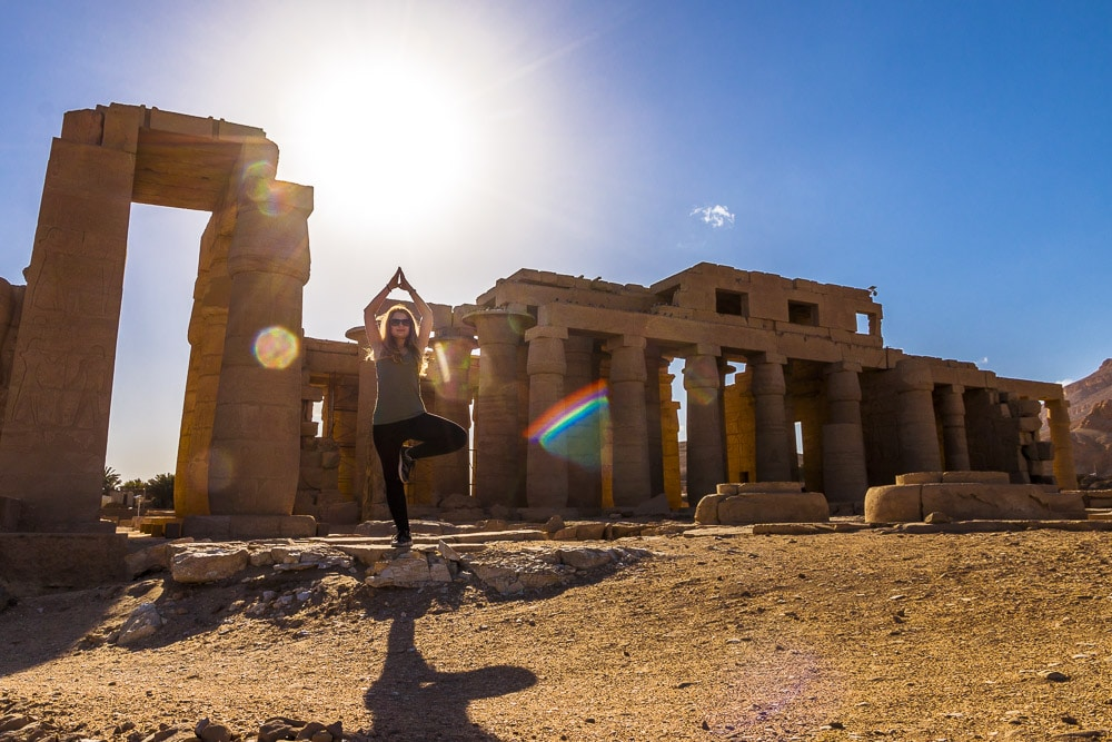 Eva in Ramesseum in Luxor
