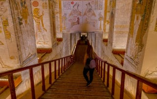 Inside of the tomb - valley of the kings