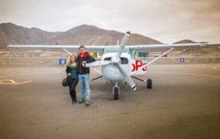Before the flight in Nazca