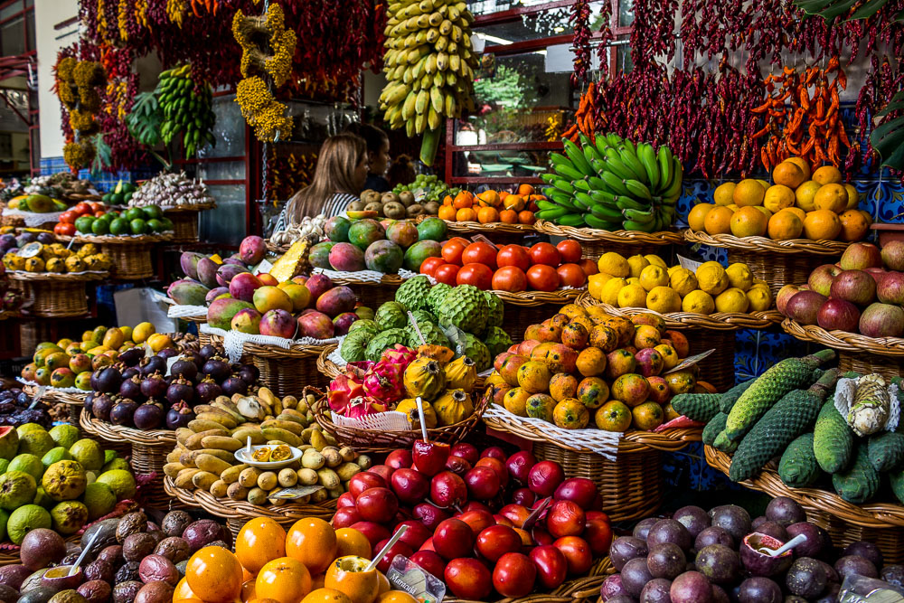 Fruit in the local market in Madeira