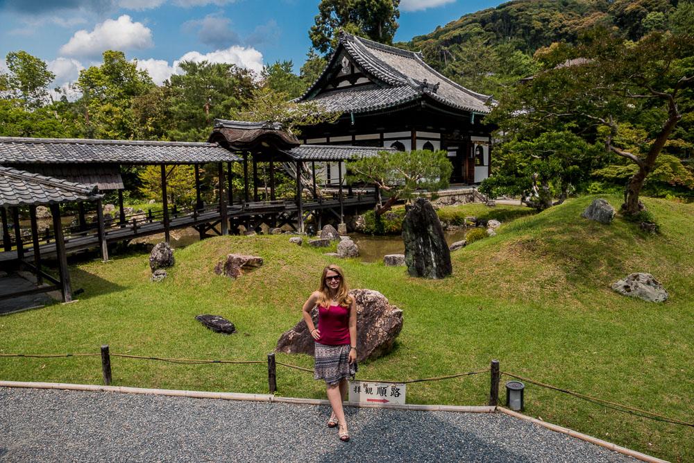 Eva in Japanese garden