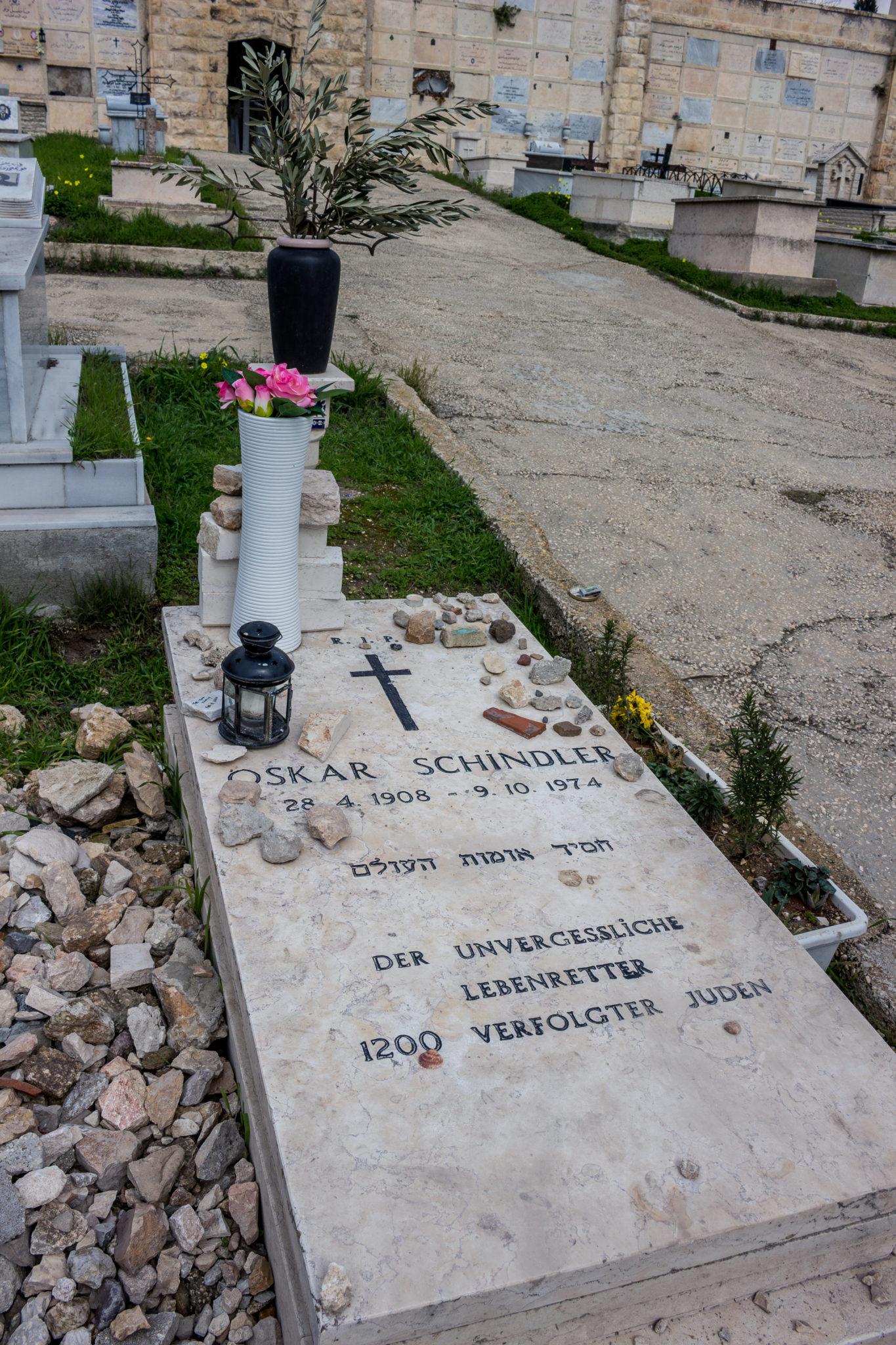Oskar Schindler - grave in Jerusalem